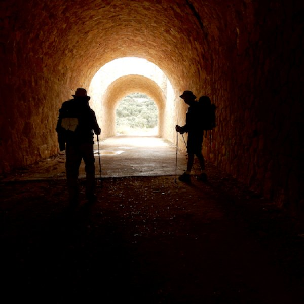 Through the tunnel on the way to Estella.jpg
