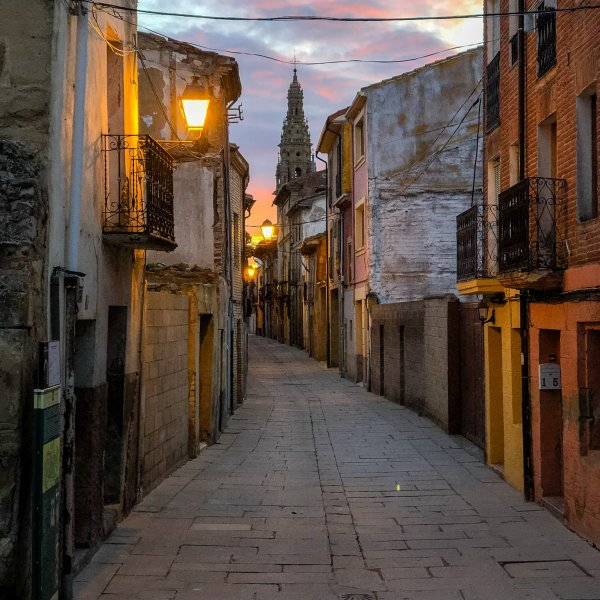 Morning light in Santo Domingo de la Calzada, 2