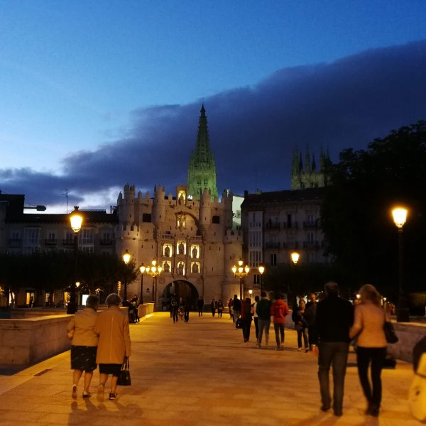 Burgos at night
