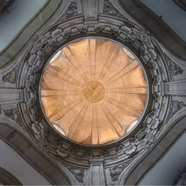 Dome in San Miguel, Santiago, where pilgrim mass is held these days