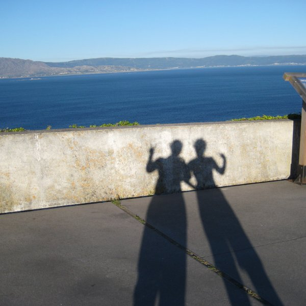 Shadow-selfie in Finisterra