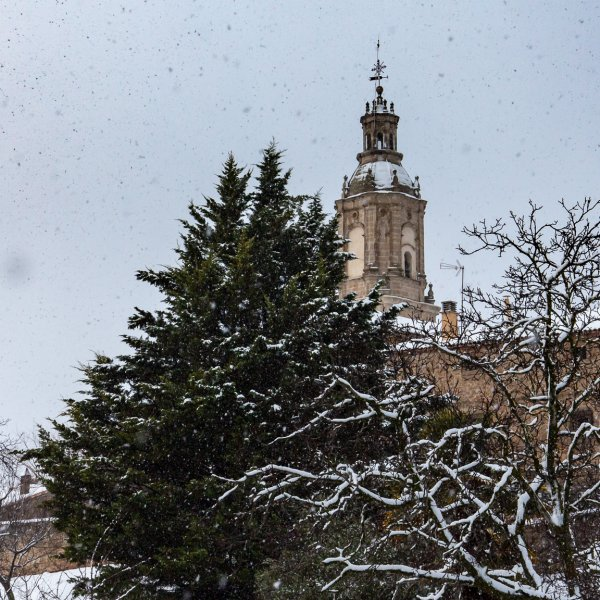 Midday Snow on the Iglesia de San Andres