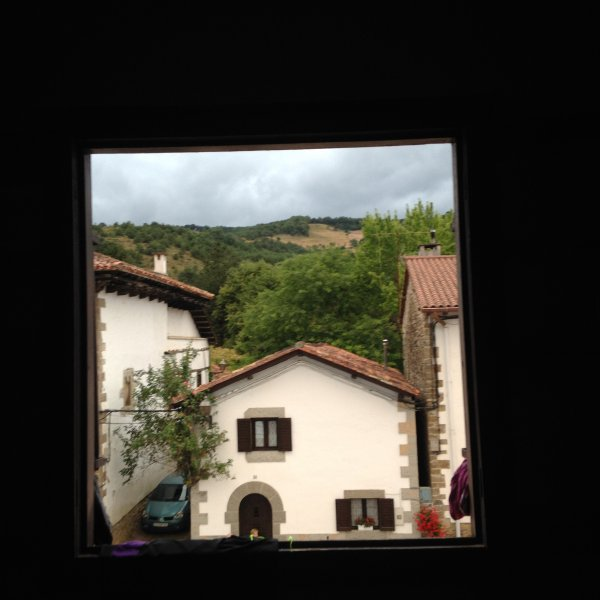 The view from Larassoana albergue window